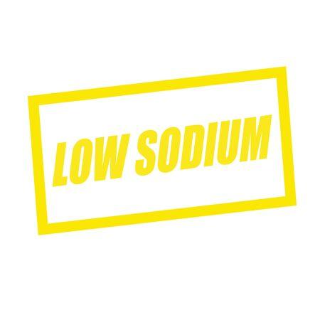 si�o: low sodium yellow stamp text on white