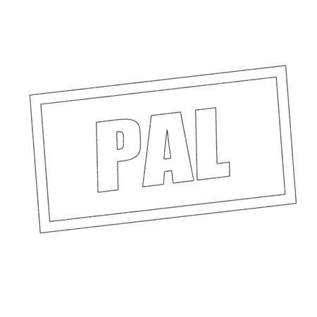 pal: PAL Monochrome stamp text on white