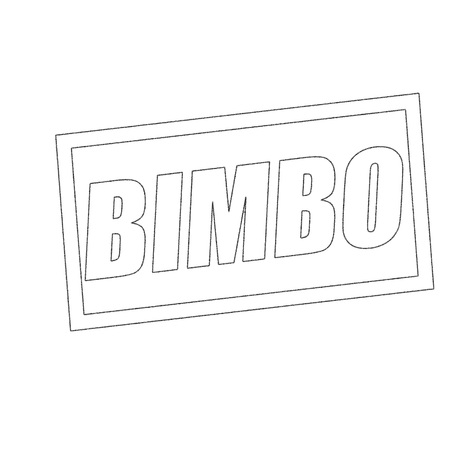 bimbo: BIMBO Monochrome stamp text on white