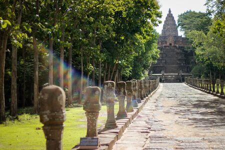 buriram: Prasat Phanom Rung 18 August 2015:Stone castle  Buriram Thailand