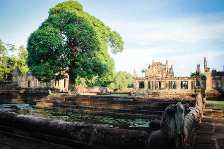 buriram: Prasat Muang Tam 18 August 2015:Stone castle  Buriram Thailand Stock Photo
