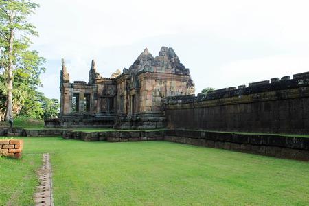 tam: Prasat Muang Tam 18 August 2015:Stone castle  Buriram Thailand Stock Photo