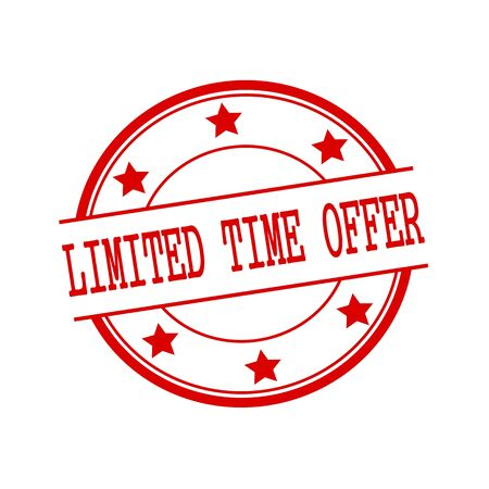 limited time: limited time offer red stamp text on red circle on a white background and star Stock Photo