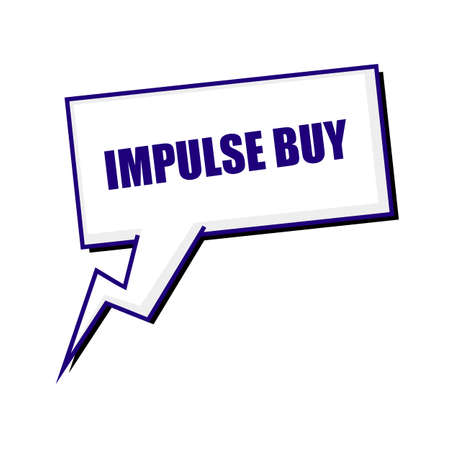 impulse: impulse buy blueblack stamp text on white Speech bubbles Stock Photo