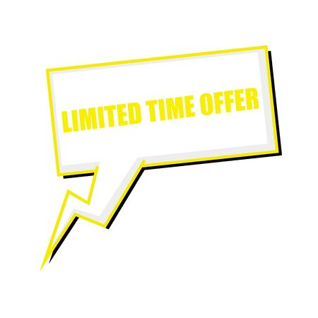 limited time: limited time offer yellow stamp text on white Speech bubbles Stock Photo