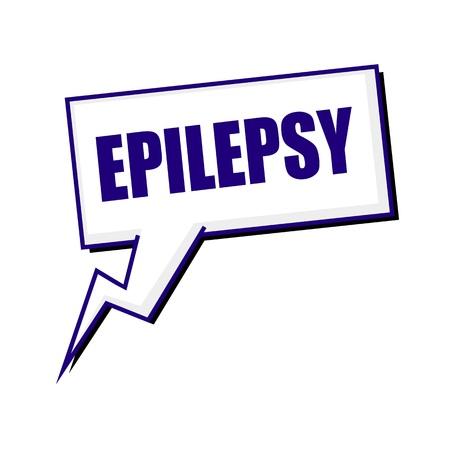 epilepsy: epilepsy blueblack stamp text on white Speech bubbles
