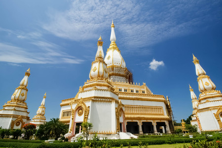 thailand temple: Thailand temple art and architecture Roi Et Thailand Stock Photo