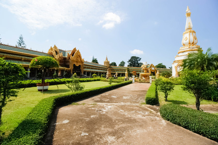 et: Thailand temple art and architecture Roi Et Thailand Stock Photo