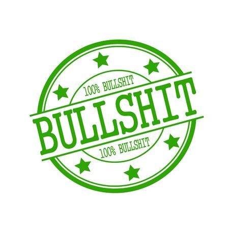 bullshit: Bullshit stamp text on green circle on a white background and star Stock Photo