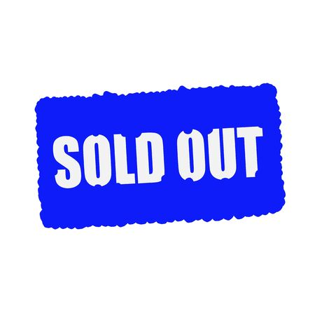 mucky: sold out white stamp text on blood drops blue Background