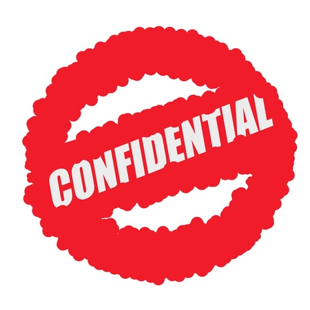 mucky: Confidential white stamp text on blood drops red circle background Stock Photo