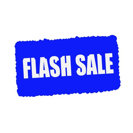 mucky: flash sale white stamp text on blood drops blue Background