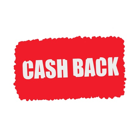mucky: Cash back white stamp text on blood drops red Background