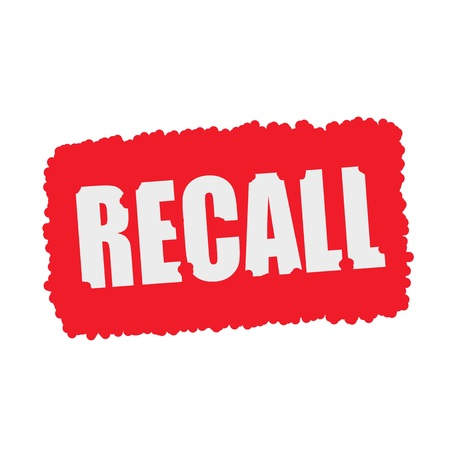 mucky: Recall white stamp text on blood drops red Background