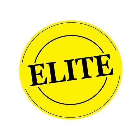 elite: Elite stamp text on circle on yellow background