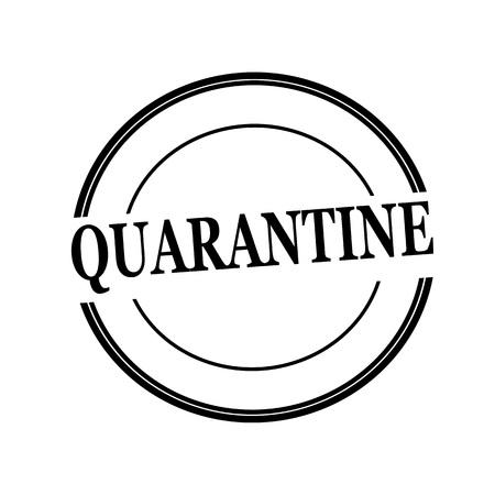 quarantine: QUARANTINE black stamp text on circle on white background Stock Photo