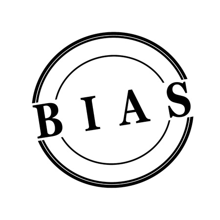 bias: BIAS black stamp text on circle on white background