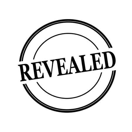 revealed: REVEALED black stamp text on circle on white background Stock Photo