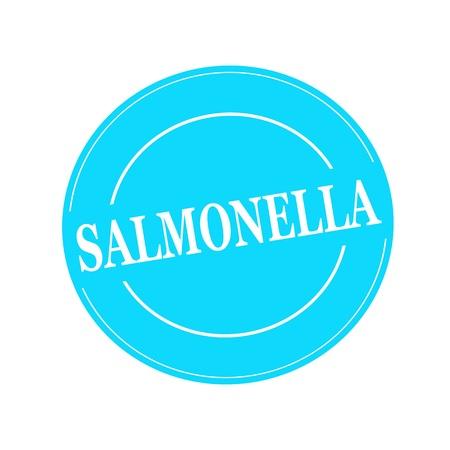 salmonella: SALMONELLA white stamp text on circle on blue background