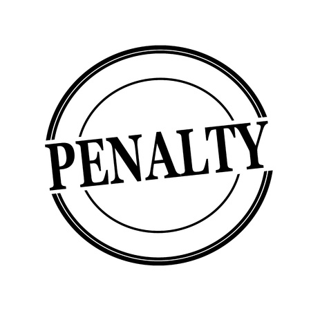 penalty: PENALTY black stamp text on circle on white background