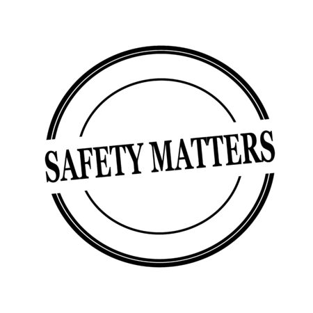 matters: Safety matters black stamp text on circle on white background Stock Photo