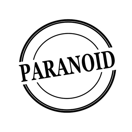paranoid: PARANOID black stamp text on circle on white background