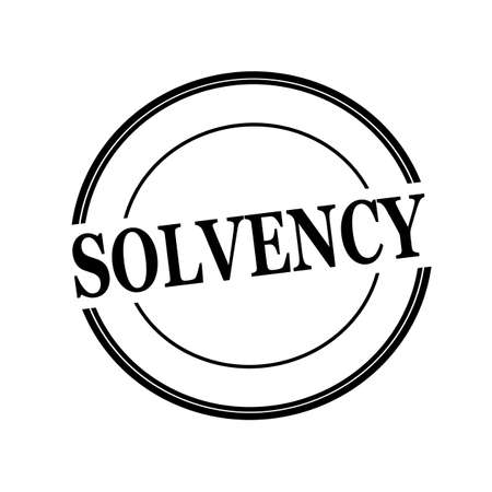 solvency: SOLVENCY black stamp text on circle on white background