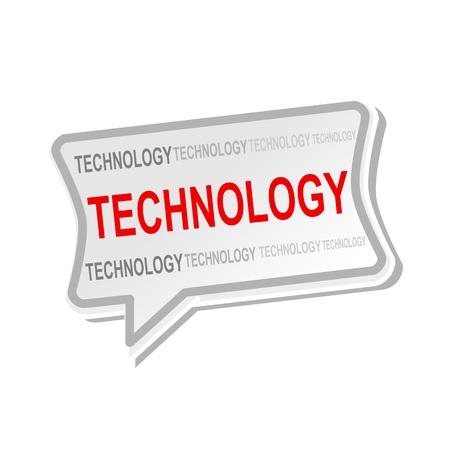 multicolored: Technology multicolored word on gray Speech bubbles