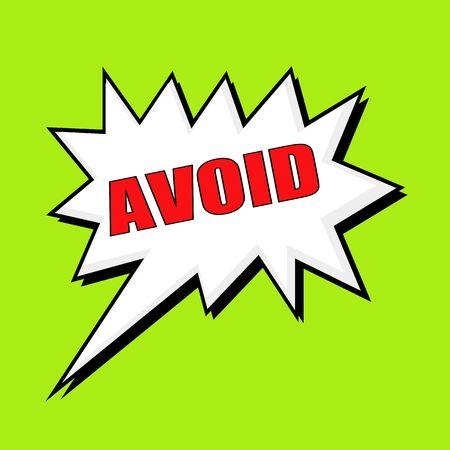 wording: AVOID wording speech bubble Stock Photo