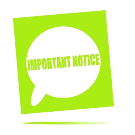 notice: important notice speech bubble icon