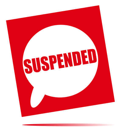 suspended: suspended speech bubble icon Stock Photo
