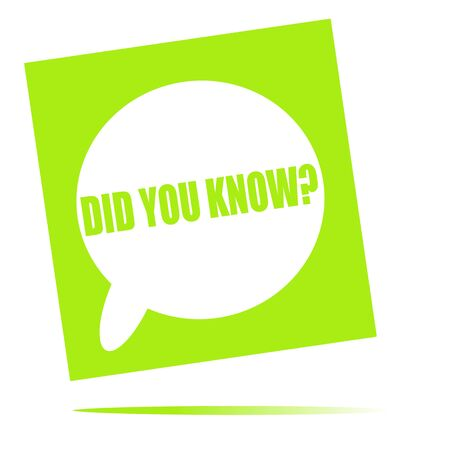 did: Did you know speech bubble icon Stock Photo