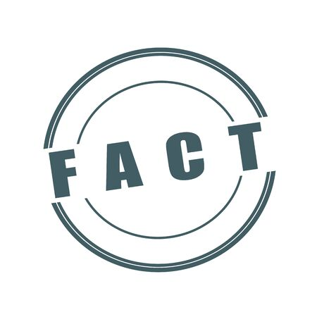 fact: FACT Grey stamp text on circle on white background