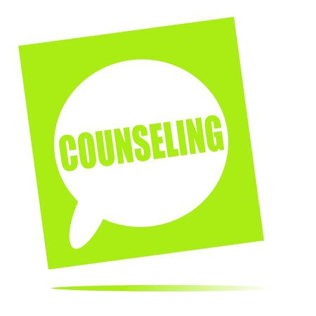 counseling: COUNSELING speech bubble icon