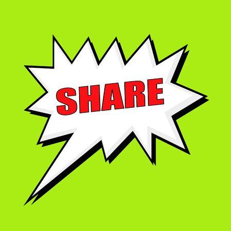 wording: Share wording speech bubble Stock Photo