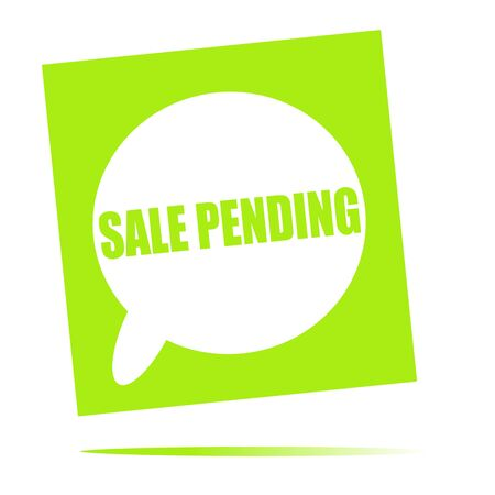 pending: sale pending speech bubble icon