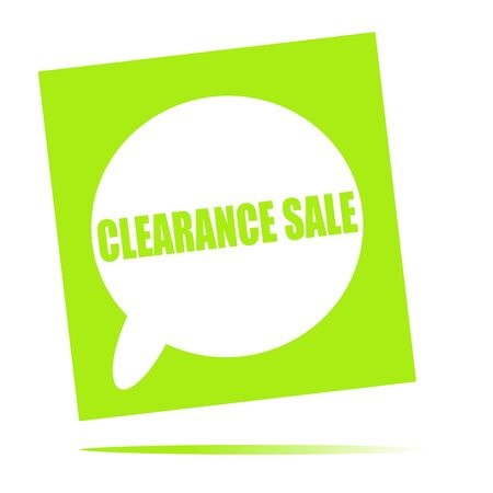 clearance: clearance sale speech bubble icon