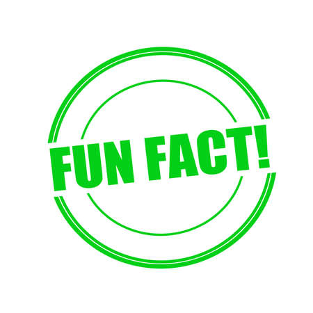 fact: Fun fact green stamp text on circle on white background