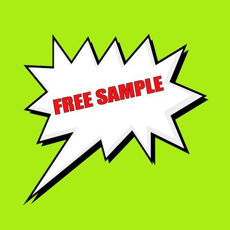 sample: Free sample wording speech bubble Stock Photo