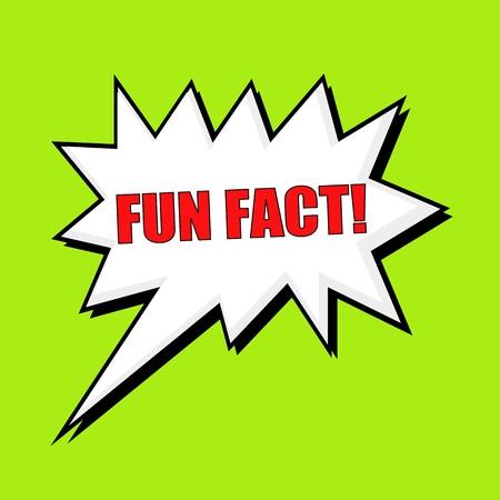 fact: Fun Fact wording speech bubble