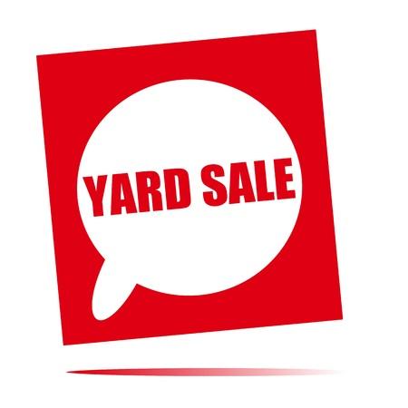 front yard: yard sale speech bubble icon