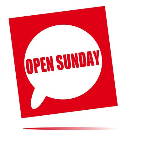 sunday: open Sunday speech bubble icon
