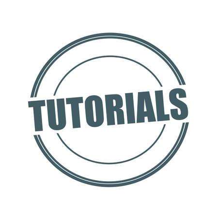tutorials: TUTORIALS Grey stamp text on circle on white background