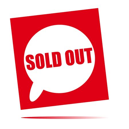 sold: sold out speech bubble icon