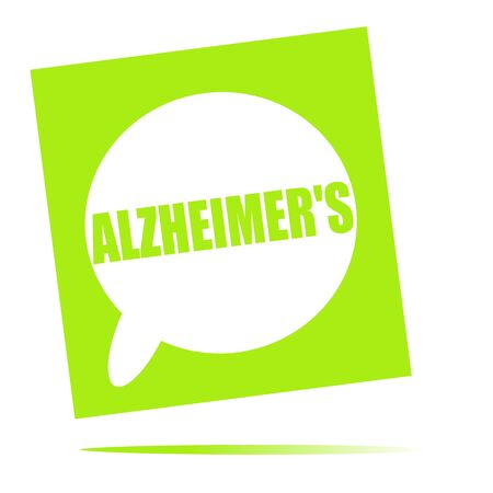 alzheimer's: ALZHEIMERS speech bubble icon