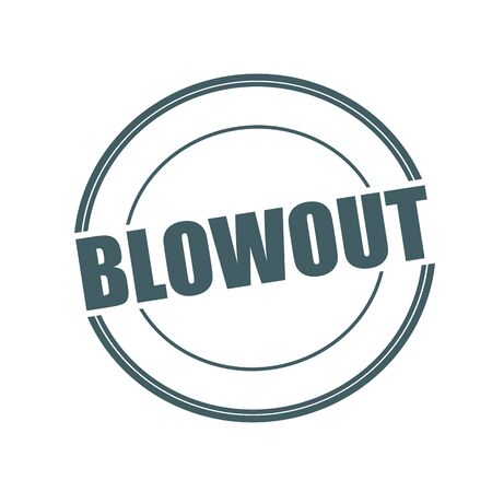 blowout: Blowout Grey stamp text on circle on white background