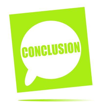 conclusion: conclusion speech bubble icon Stock Photo