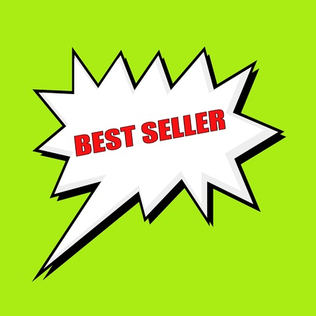at best: Best seller wording speech bubble Stock Photo