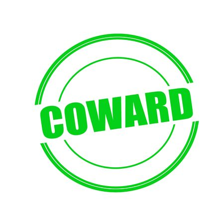 coward: Coward green stamp text on circle on white background Stock Photo