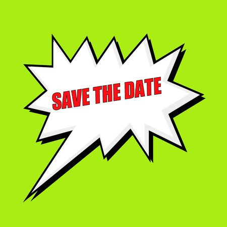 wording: save the date wording speech bubble